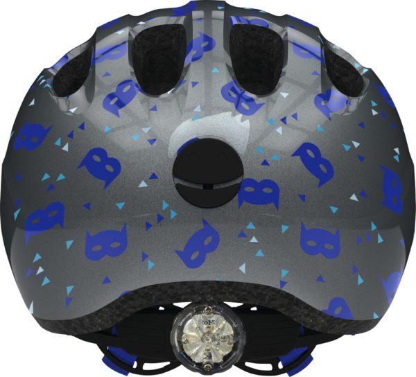 Abus Smiley 2.1 Blue Mask - Casque vélo bébé - Tête à Casque - Dos