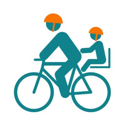 Casques vélo bébés - tete à casque