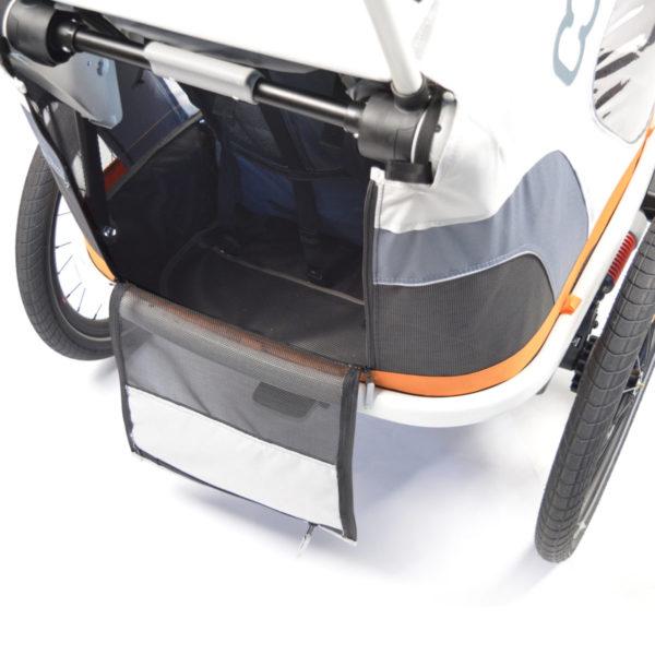 Hamax Outback - Remorque vélo enfant - rangement - Tête à Casque