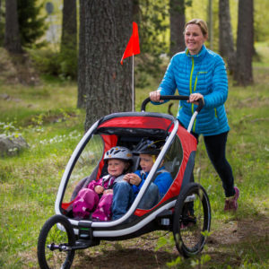 Hamax Outback - Remorque vélo enfant - mode jogging - Tête à Casque