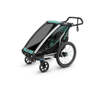 Thule Chariot Lite - Remorque vélo enfant mode poussette 1 place- Tête à Casque