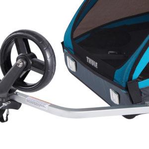 Thule Coaster XT - Remorque vélo enfant attache mode poussette - Tête à Casque