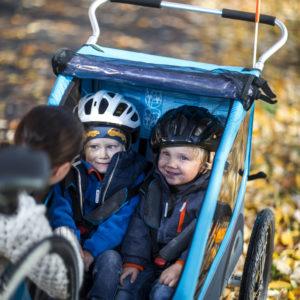 Thule Coaster XT - Remorque vélo enfant 2 places - Tête à Casque