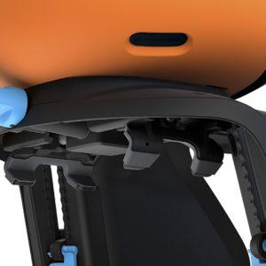 Thule Yepp Nexxt Maxi - Orange - Fixation vélo