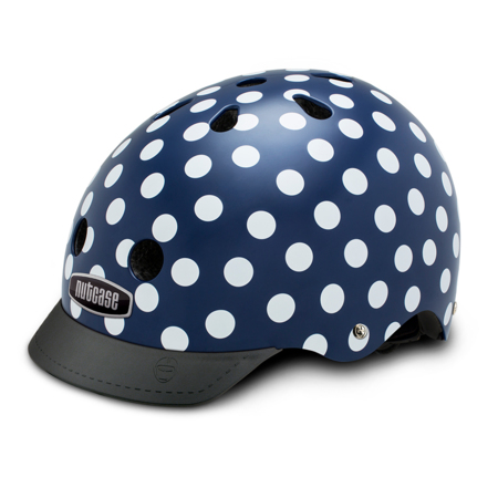 Casque Nutcase Street Adulte Navy Dots