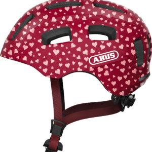 ABUS Youn-I 2.0 Cherry Heart - casque vélo enfant - Tête à Casque