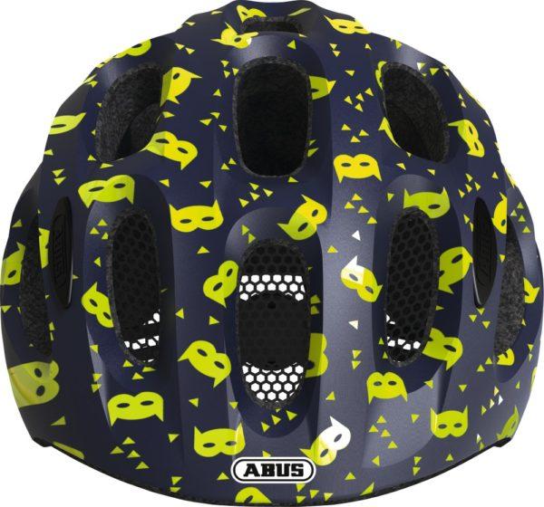 ABUS Youn-I Blue Mask - casque vélo enfant - Tête à Casque - Face