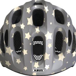 ABUS Youn-I Grey Star - casque vélo enfant - Tête à Casque - Face