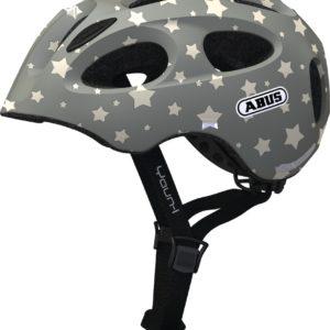 ABUS Youn-I Grey Star - casque vélo enfant - Tête à Casque