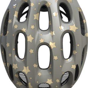 ABUS Youn-I Grey Star - casque vélo enfant - Tête à Casque - Top