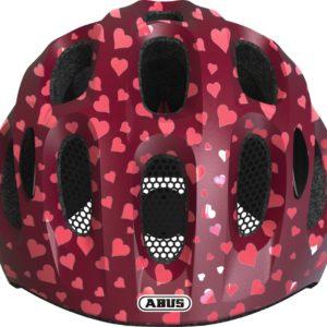 ABUS Youn-I Cherry Heart - casque vélo enfant - Tête à Casque - Face