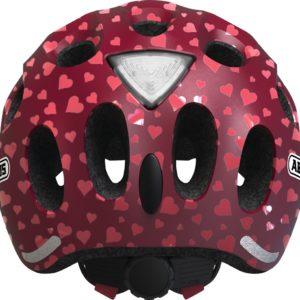 ABUS Youn-I Cherry Heart - casque vélo enfant - Tête à Casque - Dos