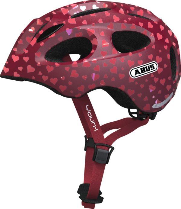 ABUS Youn-I Cherry Heart - casque vélo enfant - Tête à Casque