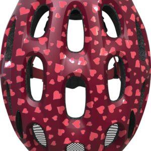 ABUS Youn-I Cherry Heart - casque vélo enfant - Tête à Casque - Top