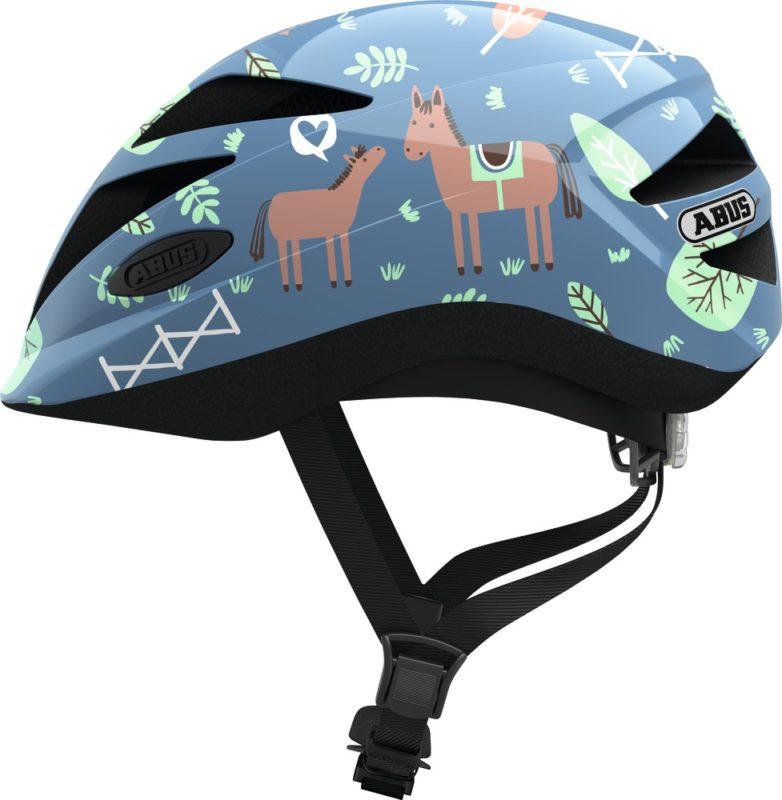Abus Hubble Blue Horse - Casque vélo bébé - Tête à Casque