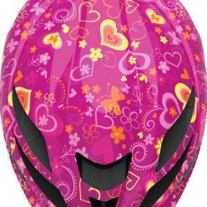 Abus Hubble Purple Flower - Casque vélo bébé - Tête à Casque - Top