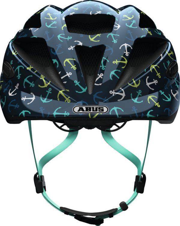 Abus Hubble Blue Anchor - Casque vélo bébé - Tête à Casque - Face