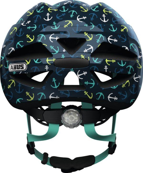 Abus Hubble Blue Anchor - Casque vélo bébé - Tête à Casque - Dos