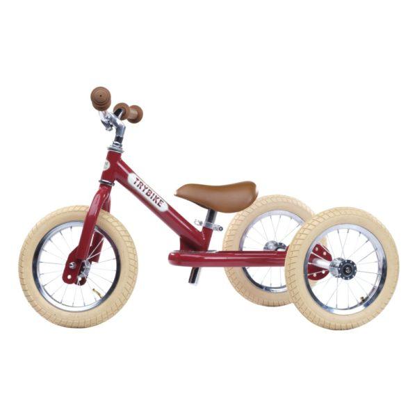 Draisienne Trybike Rouge évolutive - Tricycle - Tête à Casque - Côté