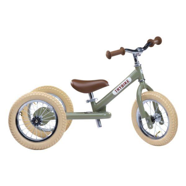 Draisienne Trybike Verte évolutive - Tricycle - Tête à Casque