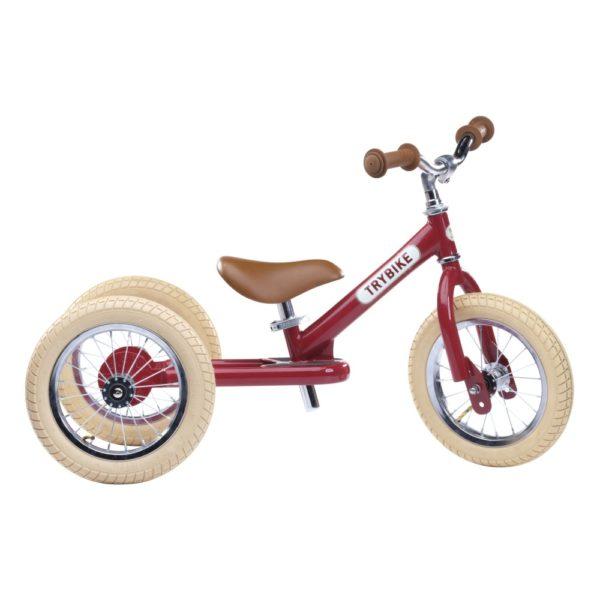Draisienne Trybike Rouge évolutive - Tricycle - Tête à Casque