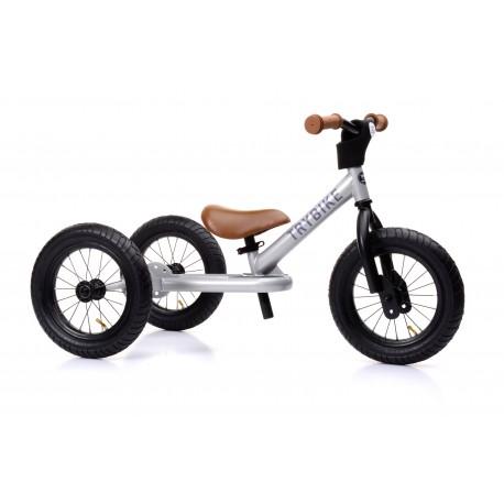 Draisienne Trybike Grise évolutive - Tricycle - Tête à Casque