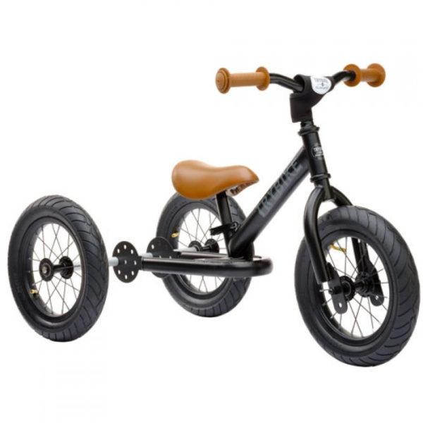 Draisienne Trybike Noir Mat évolutive - Tricycle - Tête à Casque