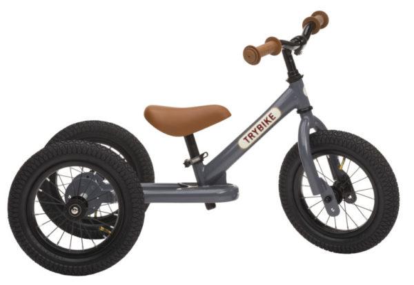 Draisienne Trybike Gris Anthracite évolutive - Tricycle - Tête à Casque - Dos