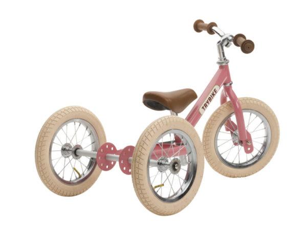 Draisienne Trybike Rose évolutive - Tricycle - Tête à Casque - Dos