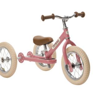 Draisienne Trybike Rose évolutive - Tricycle - Tête à Casque