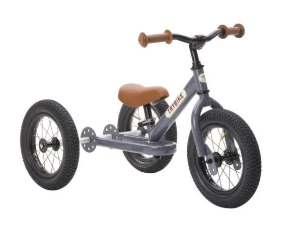 Draisienne Trybike Gris Anthracite évolutive - Tricycle - Tête à Casque