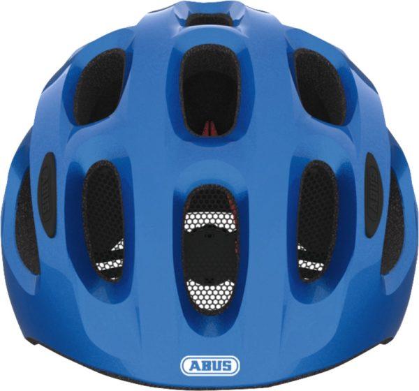 ABUS Youn-I Sparkling Blue- casque vélo enfant - Tête à Casque - Face