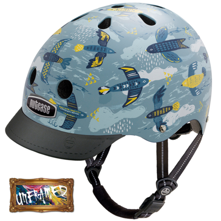 Casque Nutcase Street Adulte Enfant Feathered Friends