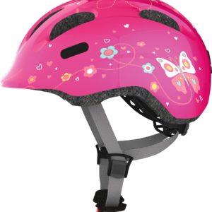 ABUS Smiley Pink Butterfly - Casque vélo bébé enfant