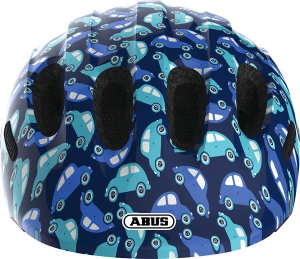 ABUS Smiley Blue Car - Casque vélo bébé enfant - Face