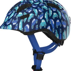 ABUS Smiley Blue Car - Casque vélo bébé enfant