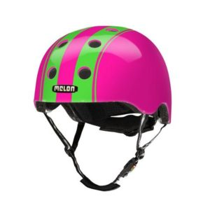 Casque Melon Stripe Tease Double Green Pink