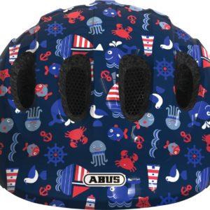 Abus Smiley 2.1 Blue Maritim - Casque vélo bébé - Tête à Casque - Face