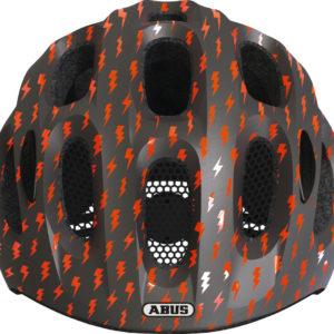 ABUS Youn-I Grey Lightning - casque vélo enfant - Tête à Casque - face