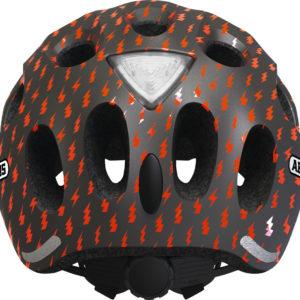 ABUS Youn-I Grey Lightning - casque vélo enfant - Tête à Casque - dos