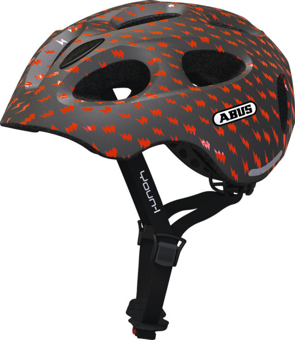 ABUS Youn-I Grey Lightning - casque vélo enfant - Tête à Casque