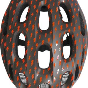 ABUS Youn-I Grey Lightning - casque vélo enfant - Tête à Casque - top