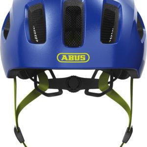 ABUS Youn-I 2.0 Sparkling Blue - casque vélo enfant - Tête à Casque - Face