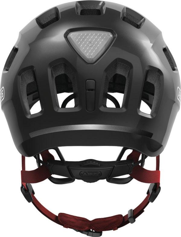 ABUS Youn-I 2.0 Sparkling Titan - casque vélo enfant - Tête à Casque - BAck