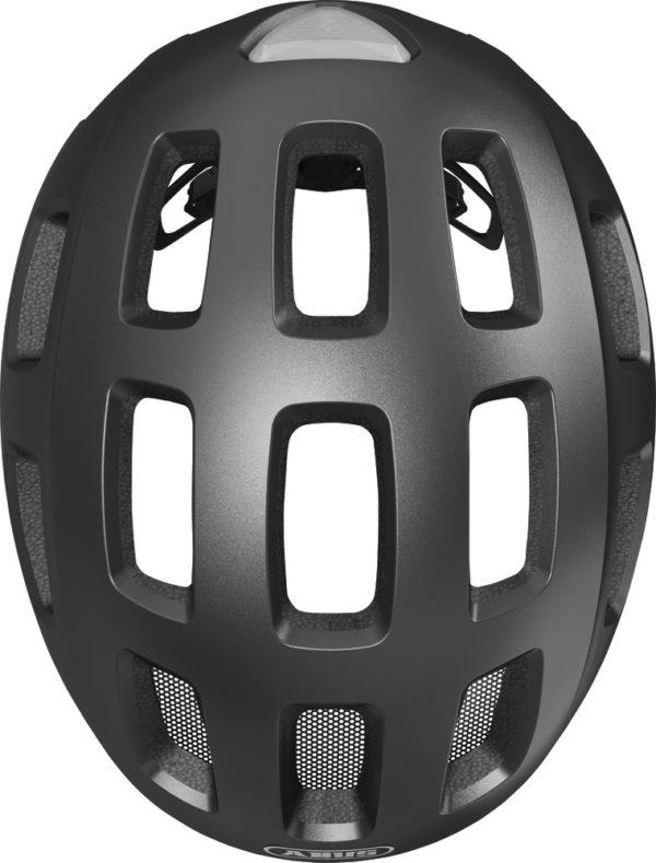 ABUS Youn-I 2.0 Sparkling Titan - casque vélo enfant - Tête à Casque - Top